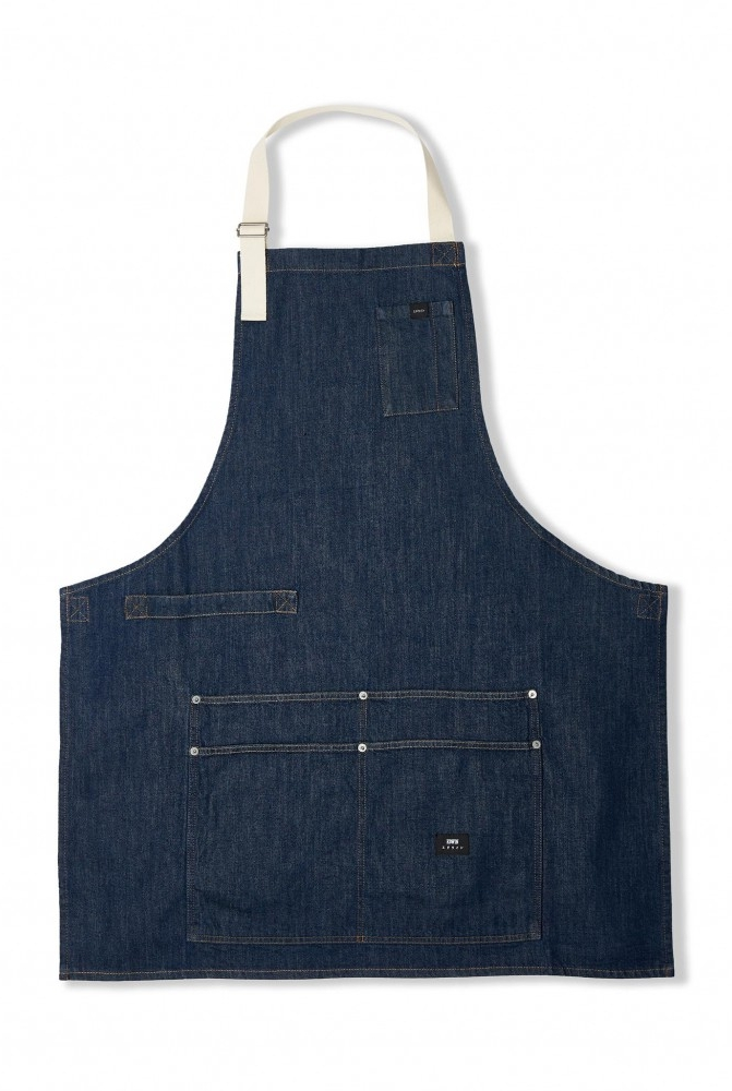 LOUIE APRON | BLUE RINSED