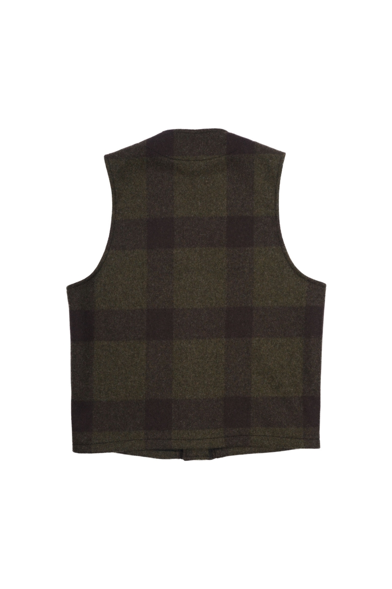 MACKINAW VEST | FOREST GREEN BROWN
