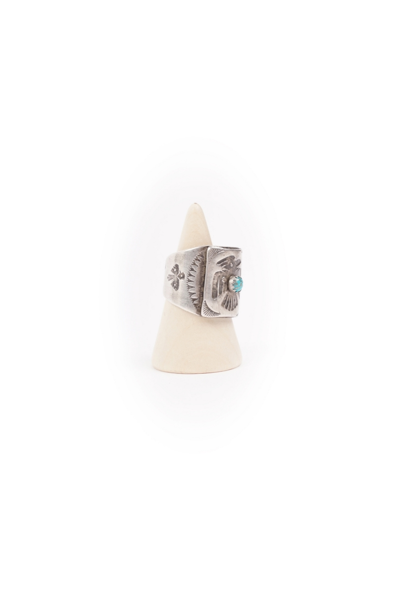 T-BIRD RING | BLUE ROUND