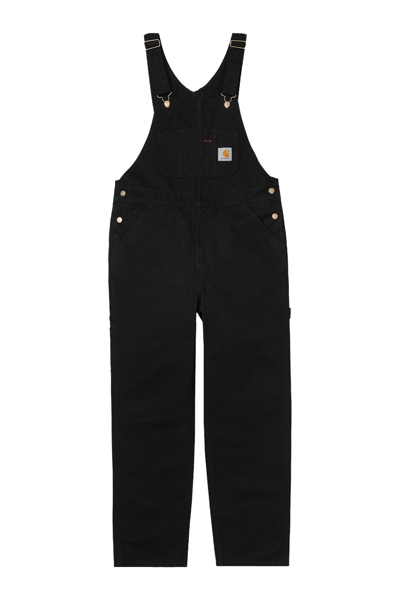 BIB OVERALL | BLACK RINSED