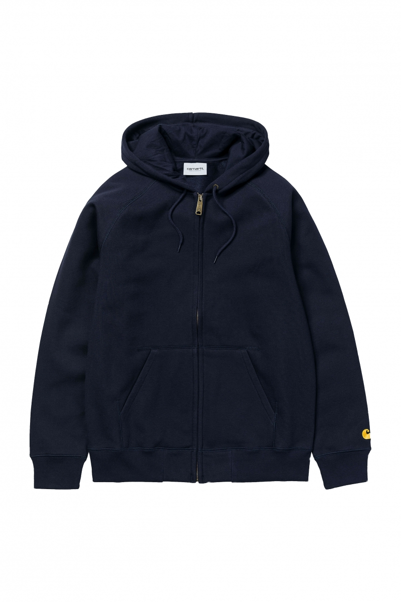 HOODED CHASE JACKET | DARK NAVY