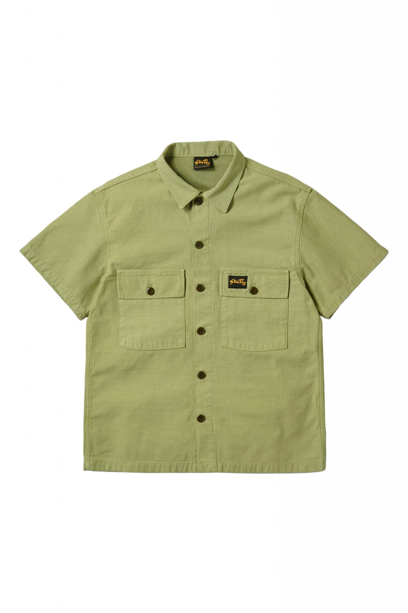 CPO SS SHIRT   OLIVE SATEEN