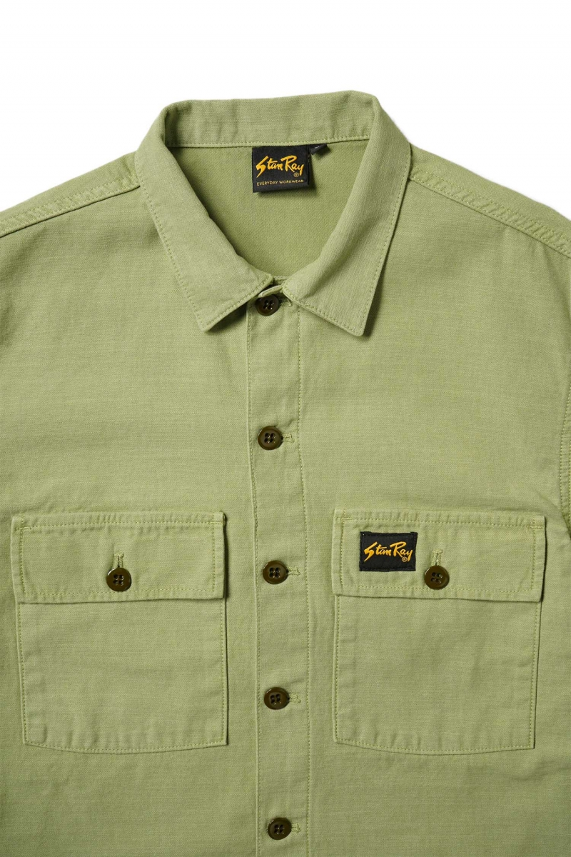 CPO SS SHIRT | OLIVE SATEEN