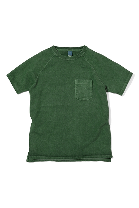 HEAVY RAGLAN S/S | P.DARK GREEN