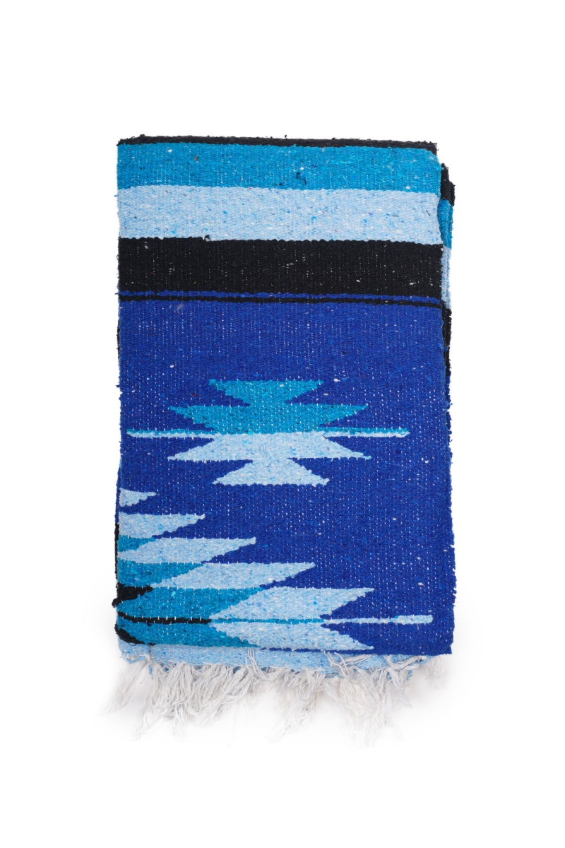 MEXICAN BLANKET | PINA BLACK BLUE