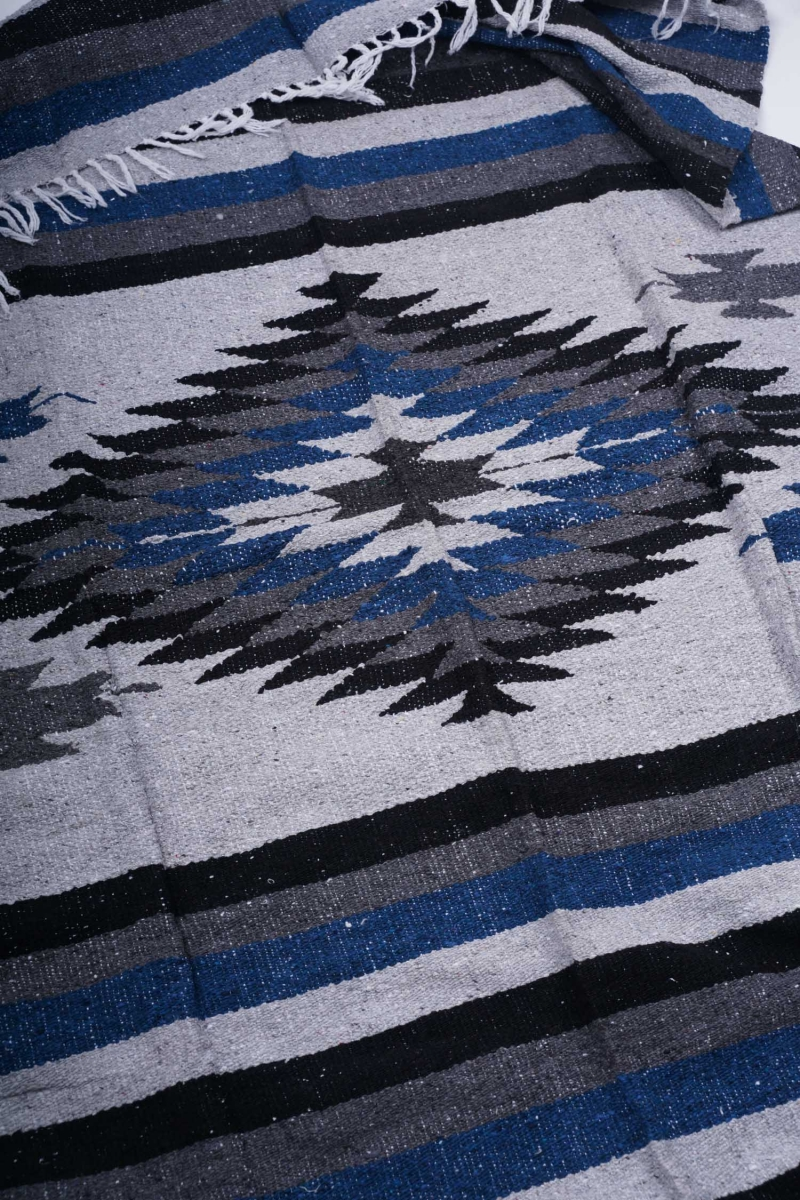 MEXICAN BLANKET | PINA GREY BLUE