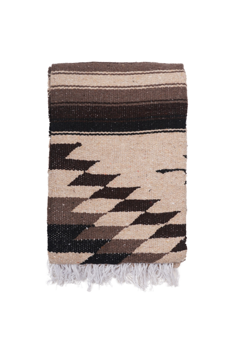 MEXICAN BLANKET   PINA BROWN BLACK