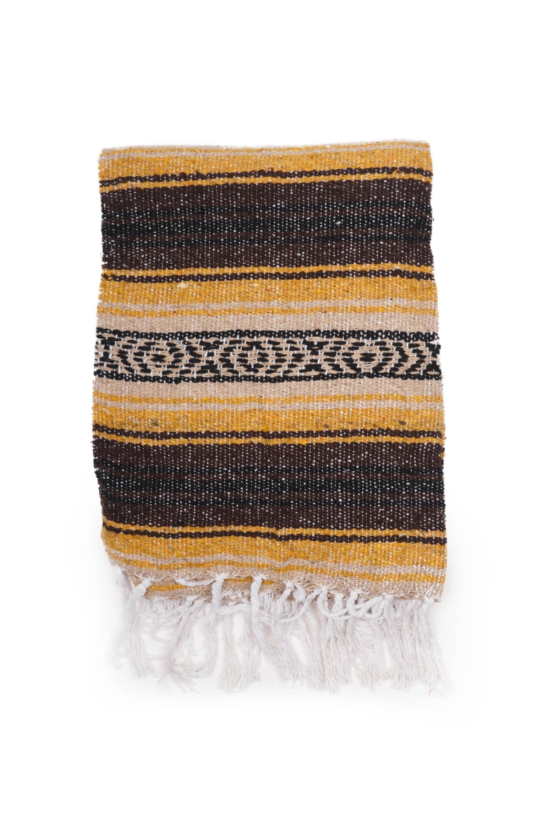 MEXICAN BLANKET | CLASSIC GOLD BROWN