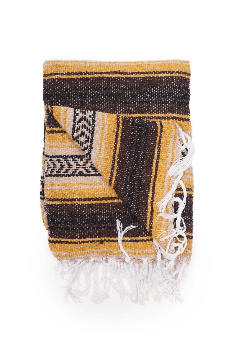 MEXICAN BLANKET   CLASSIC GOLD BROWN
