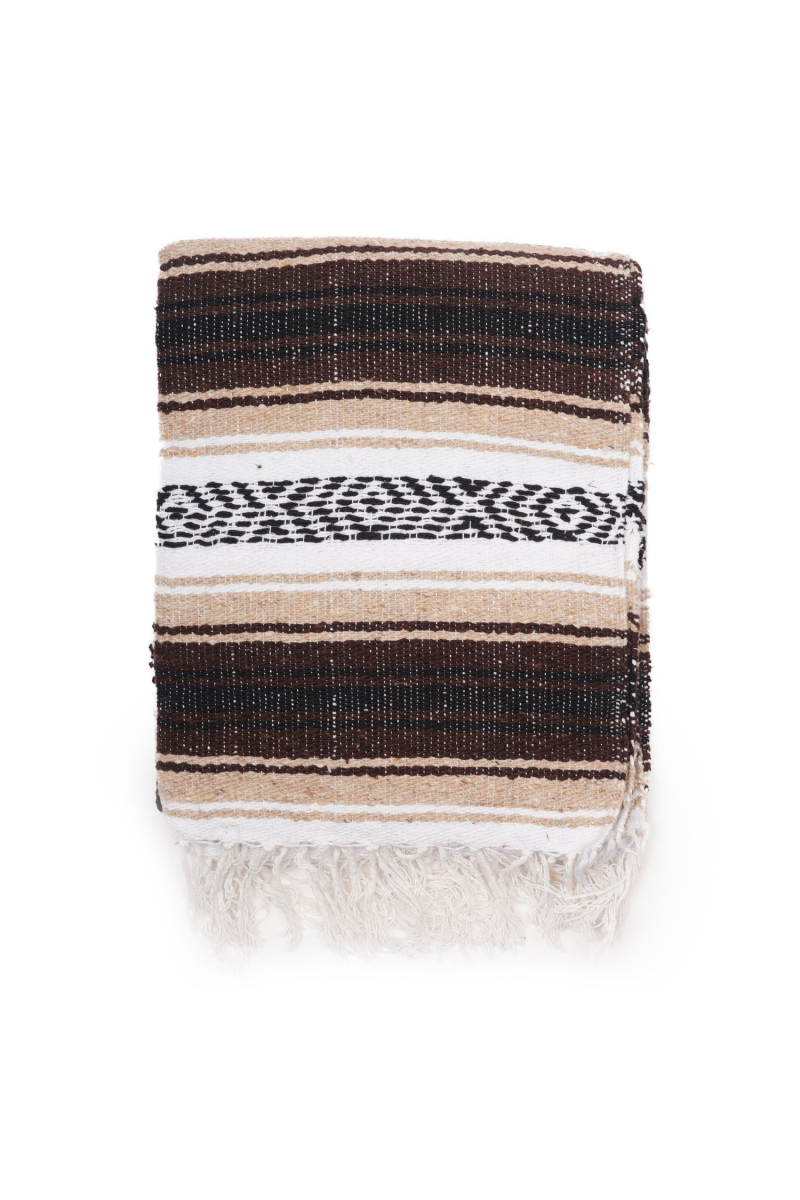 MEXICAN BLANKET | CLASSIC BLACK BROWN