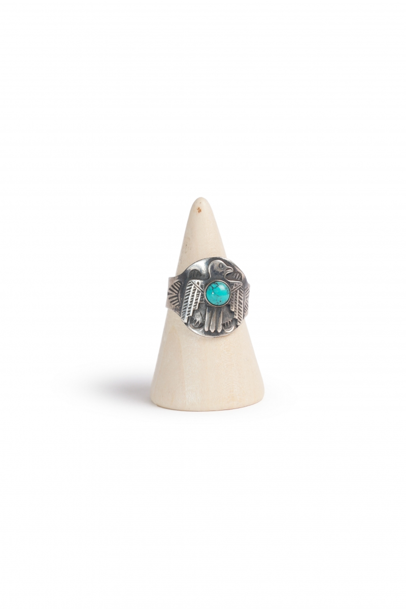 CIGAR BAND TBIRD | SILVER TURQUOISE