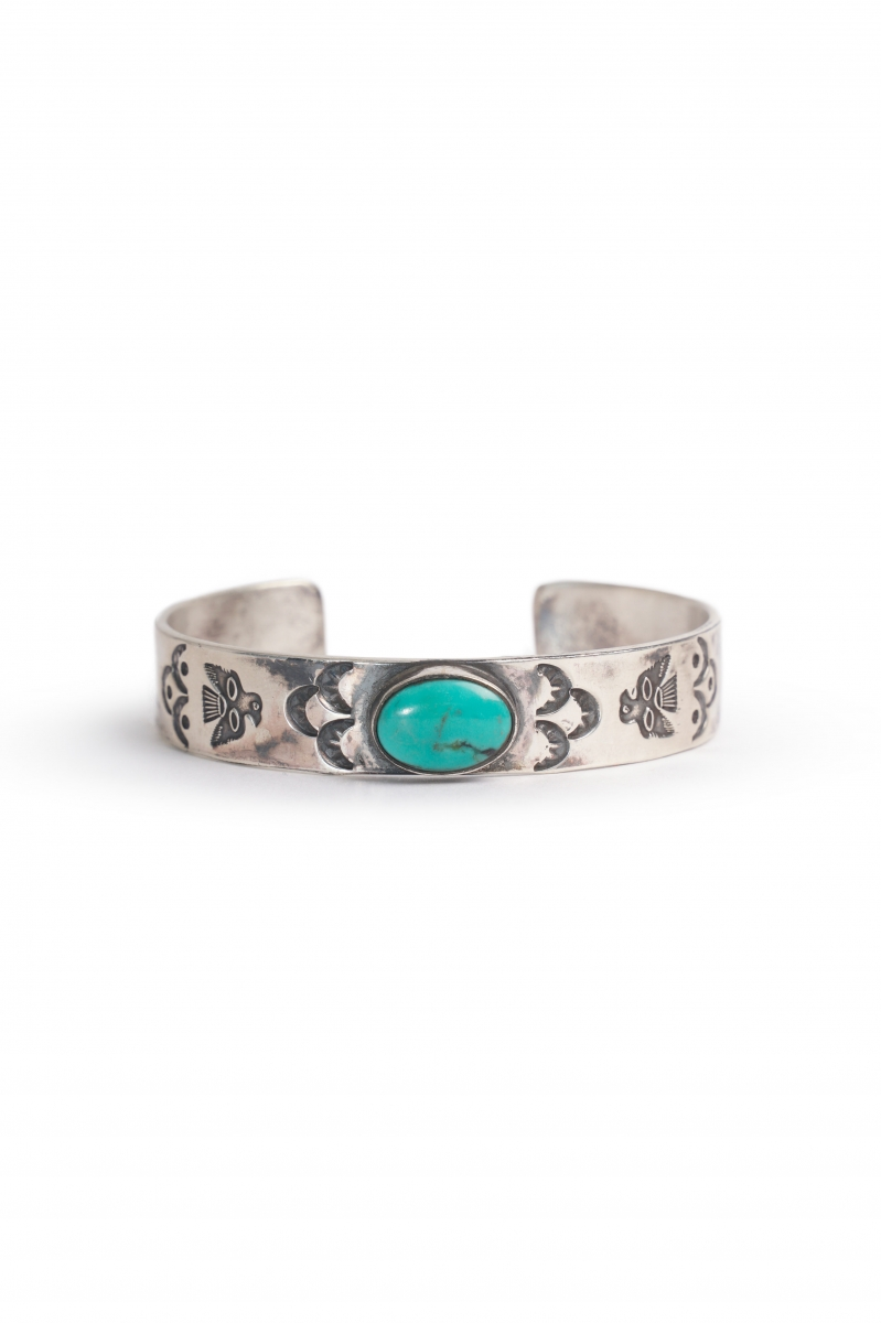 CLASSIC CUFF   SILVER TURQUOISE