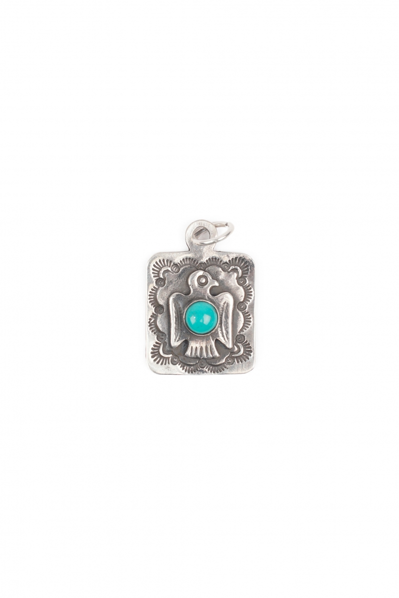 DOG TAG TBIRD | SILVER TURQUOISE