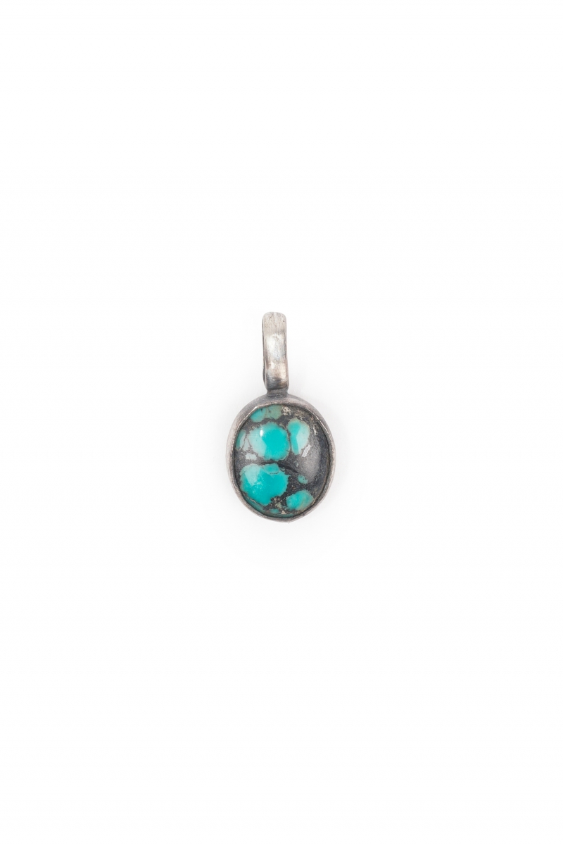 OVAL CHARM | SILVER TURQUOISE