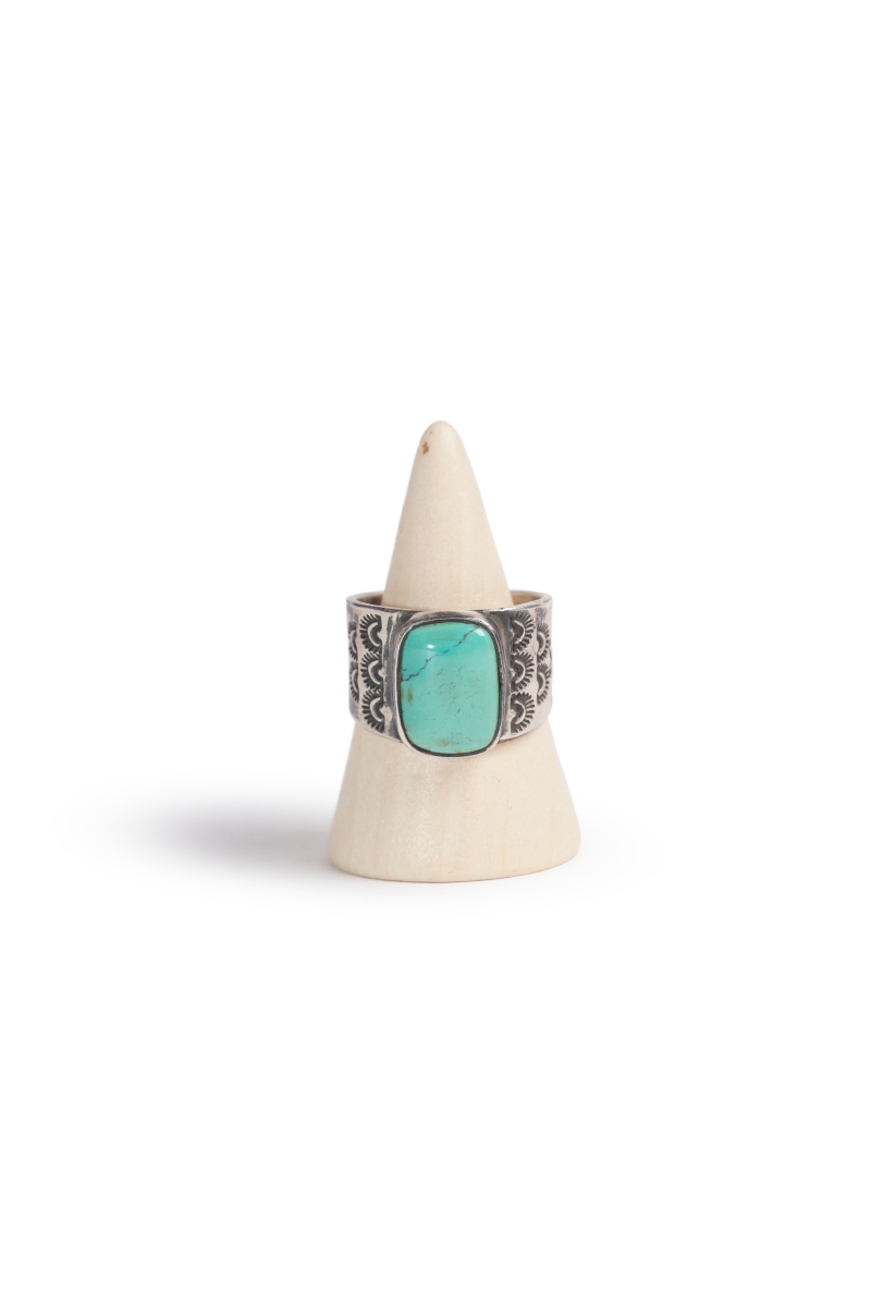 SINGLE STONE RING | SILVER TURQUOISE