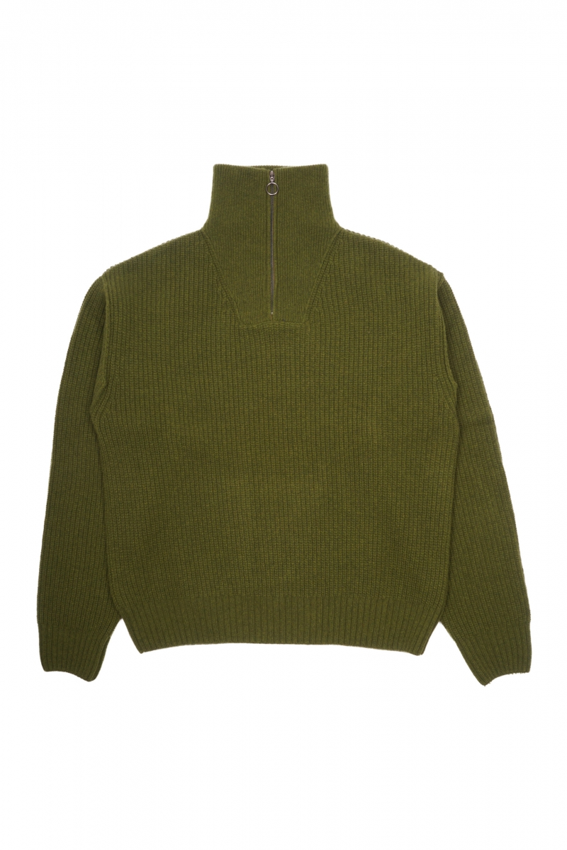 KNIT FLY SWEATER | ARMY GREEN