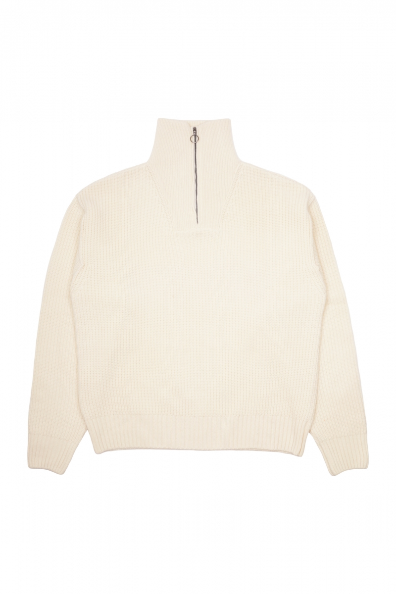 KNIT FLY SWEATER | OFF WHITE