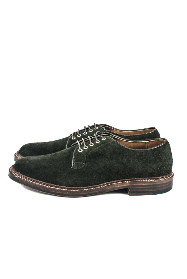 PLAIN TOE BLUTCHER SUEDE | HUNTING GREEN