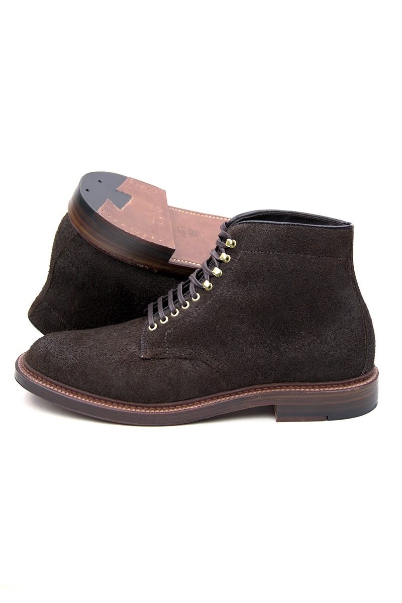 PLAIN TOE BOOT | TOBACCO CHAMOIS