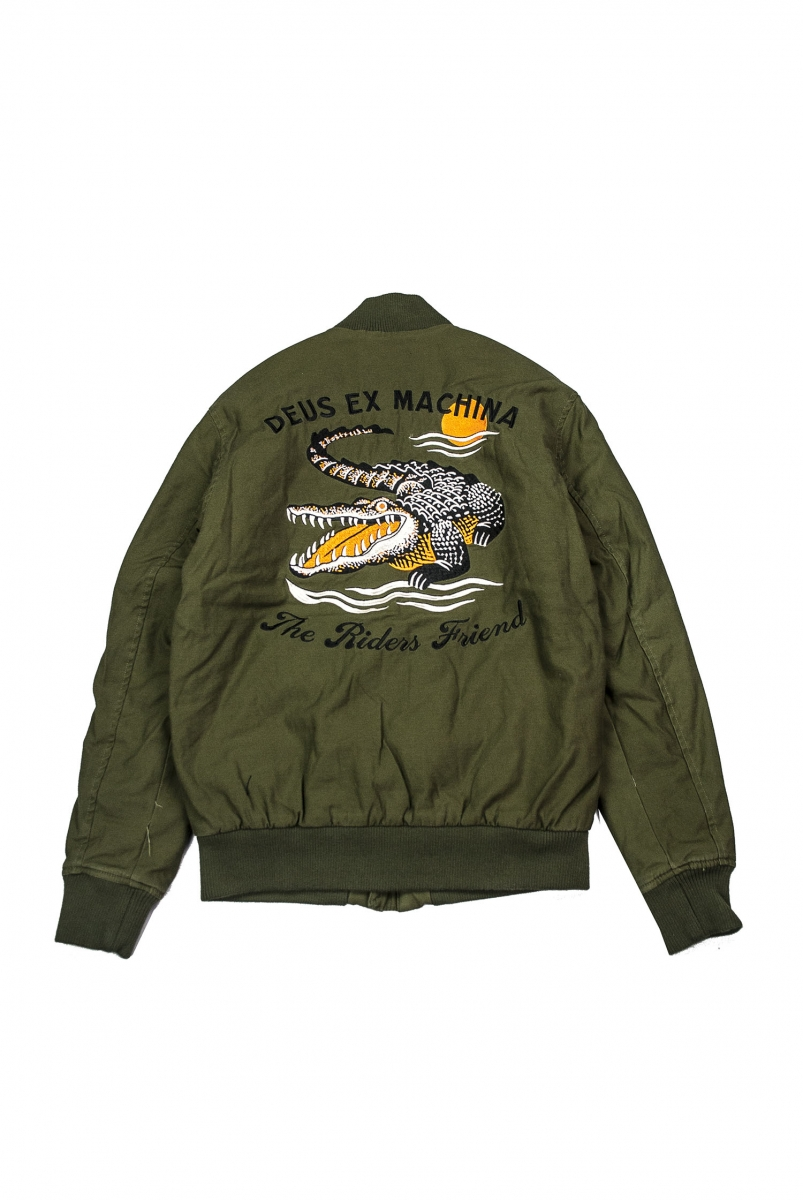 ELIAS CROC BOMBER | PINE ORANGE