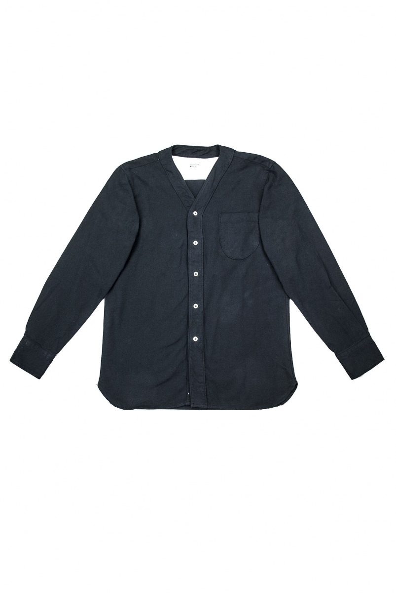 V NECK SHIRT | BLACK