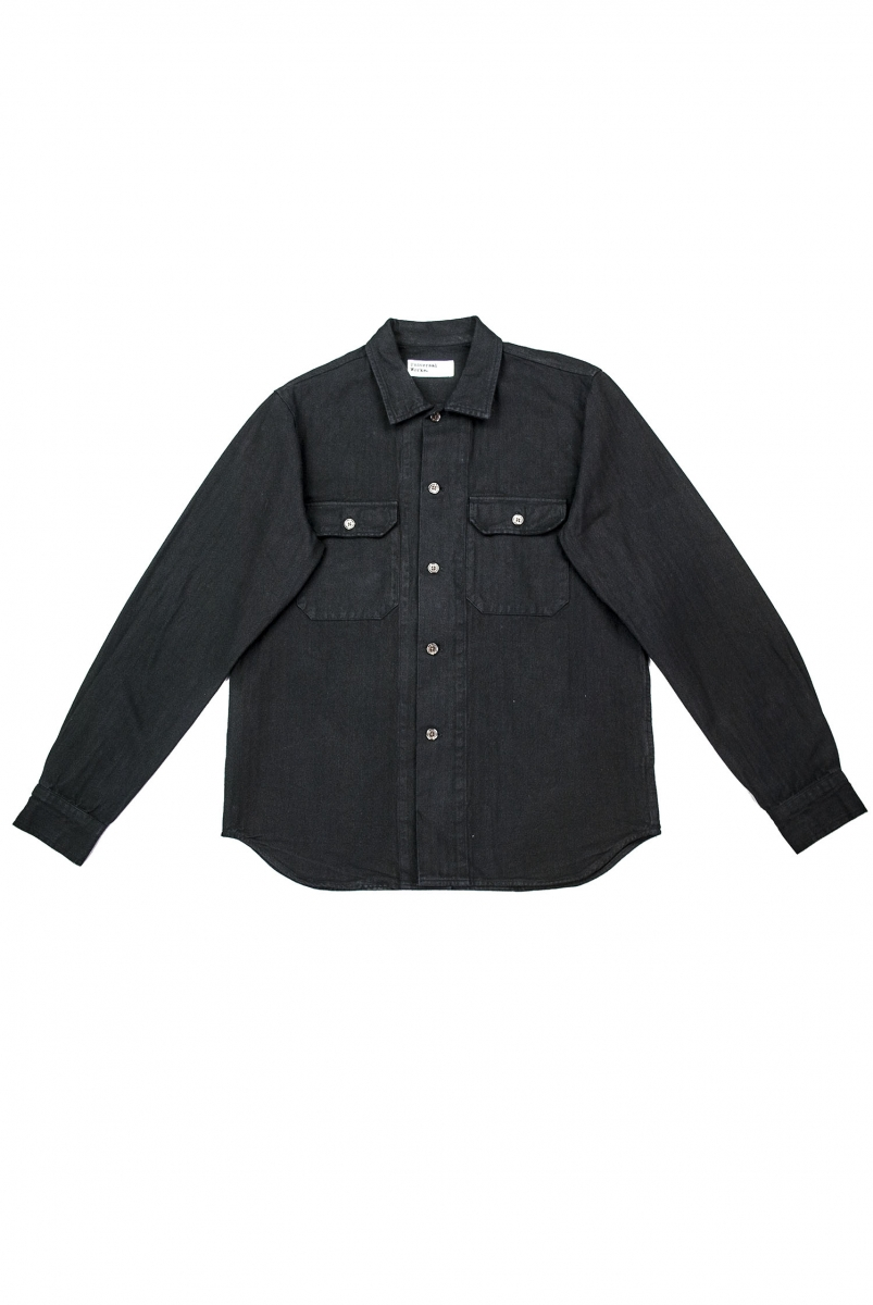 CORPS SHIRT HERRINGBONE | BLACK
