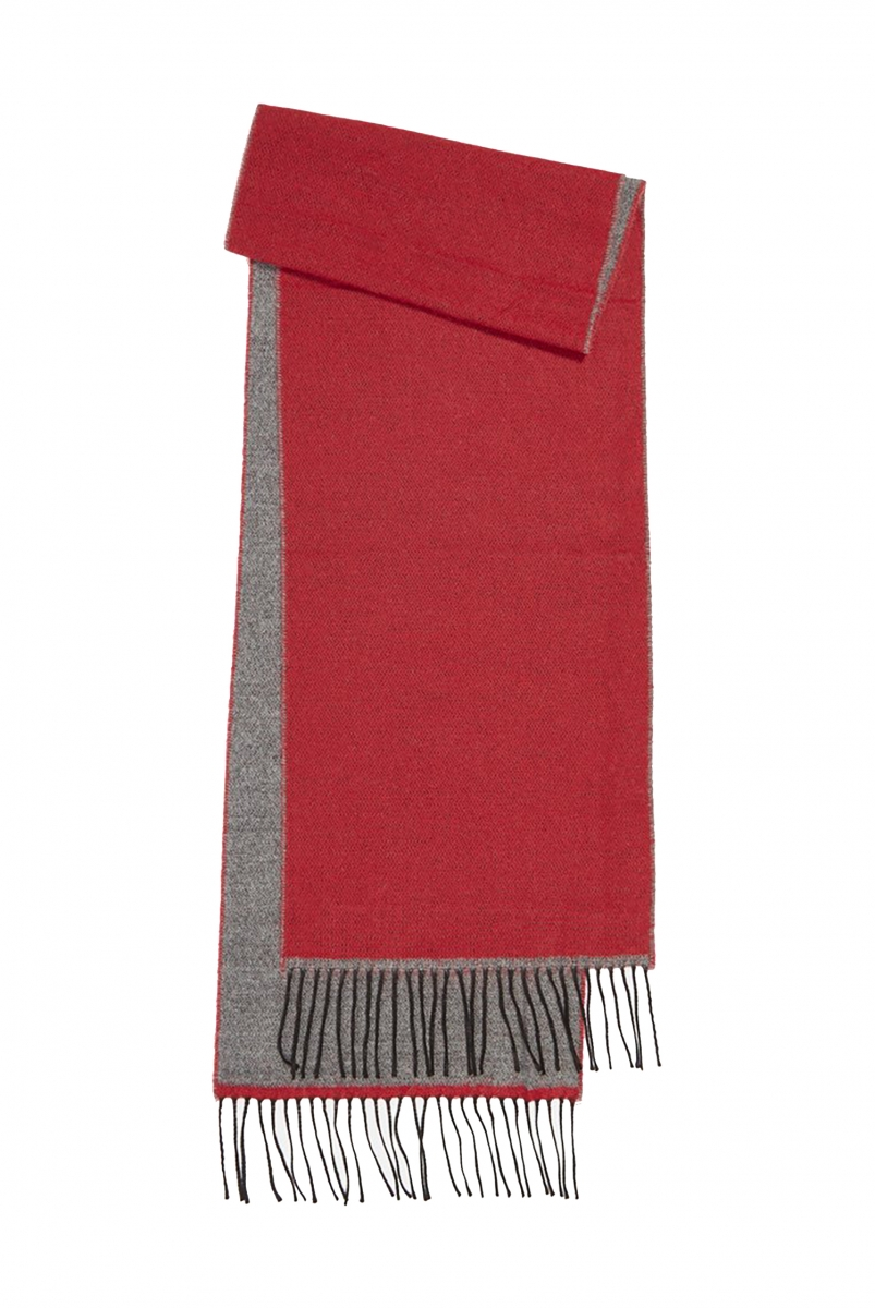 DOUBLE SIDED SCARF | RED/GREY