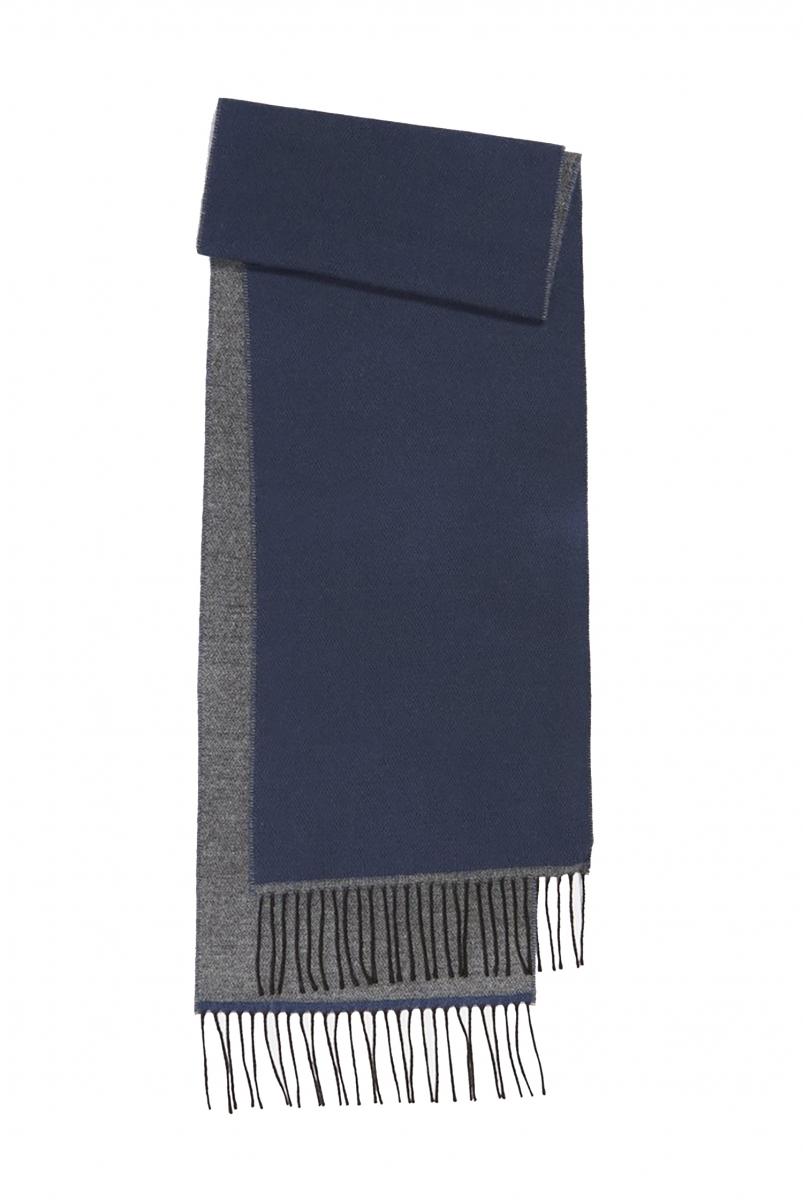 DOUBLE SIDED SCARF | NAVY/GREY