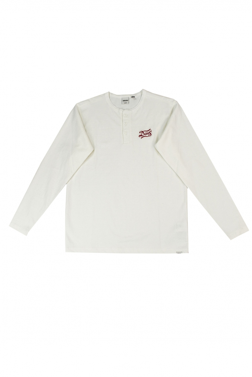 FLAGGED HENLEY | OFF WHITE