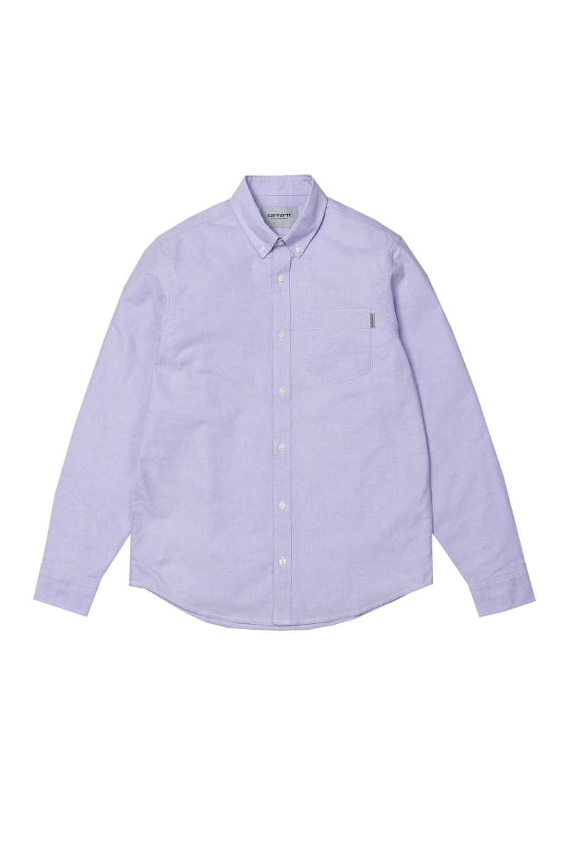 LS BUTTON DOWN | SOFT PURPLE