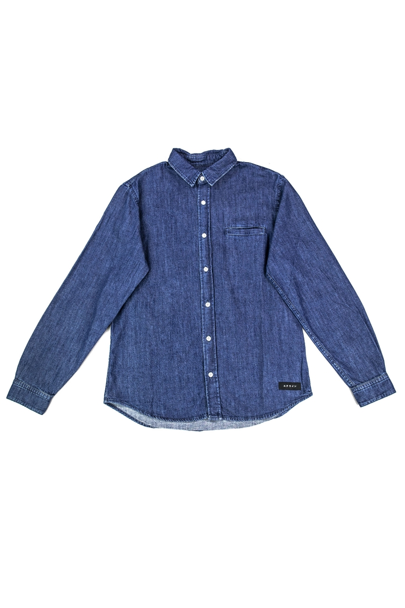 BETTER SHIRT | BLUE DARK STONE WASH
