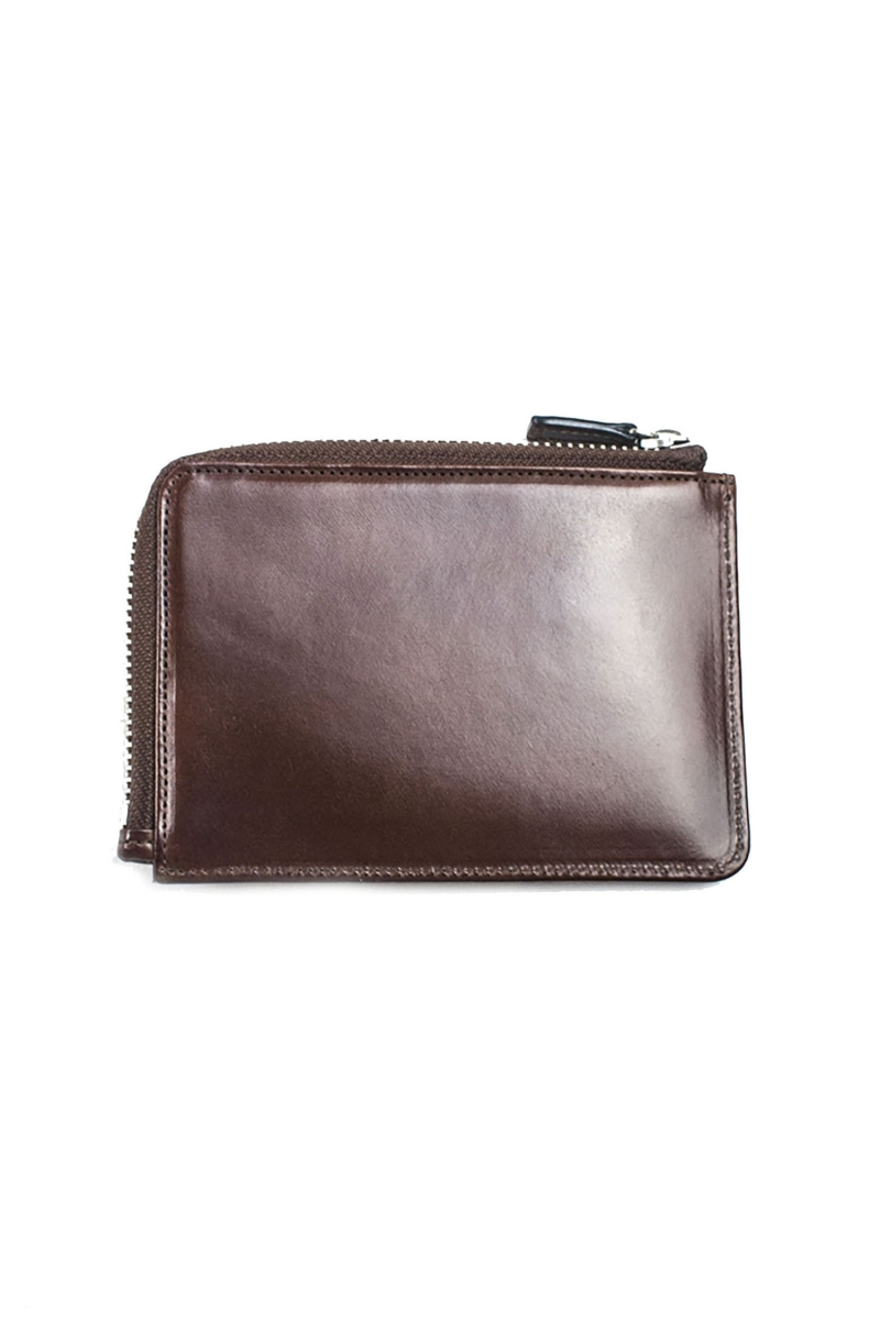 ZIPPED WALLET CARD | 7 BROWN