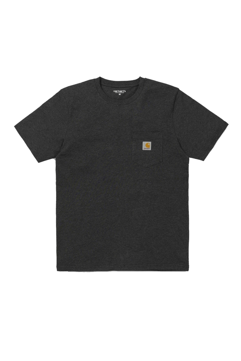 S/S POCKET | BLACK HEATHER