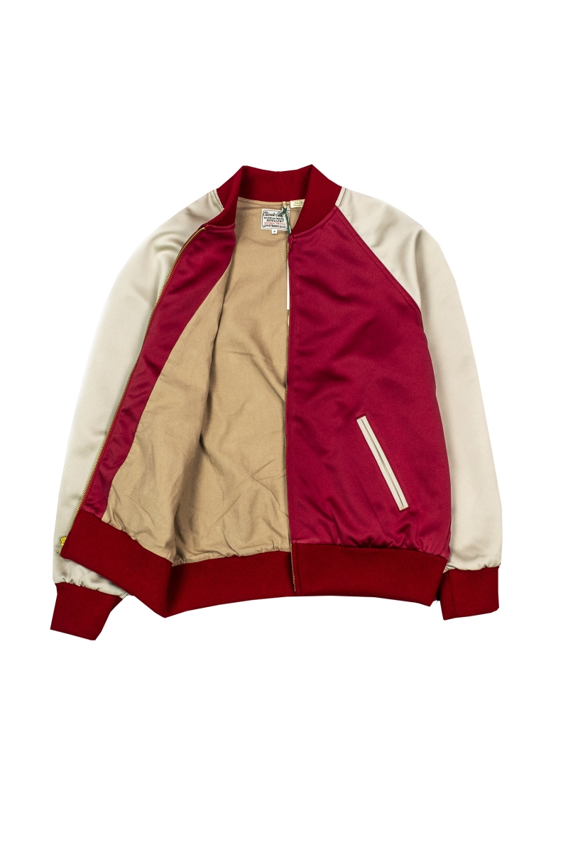 CLIMATE SEAL BOMBER | RED CREAM