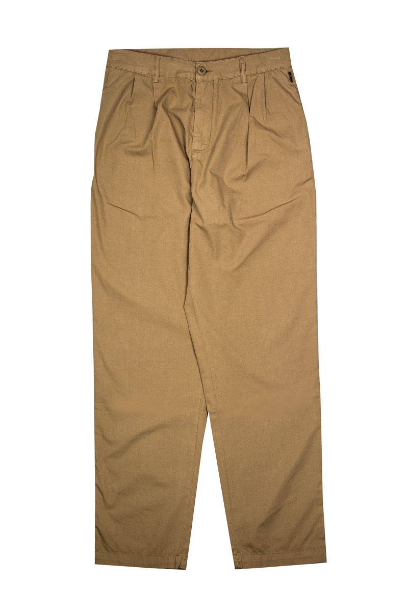 PLEATED CHINO | BREAK SAND