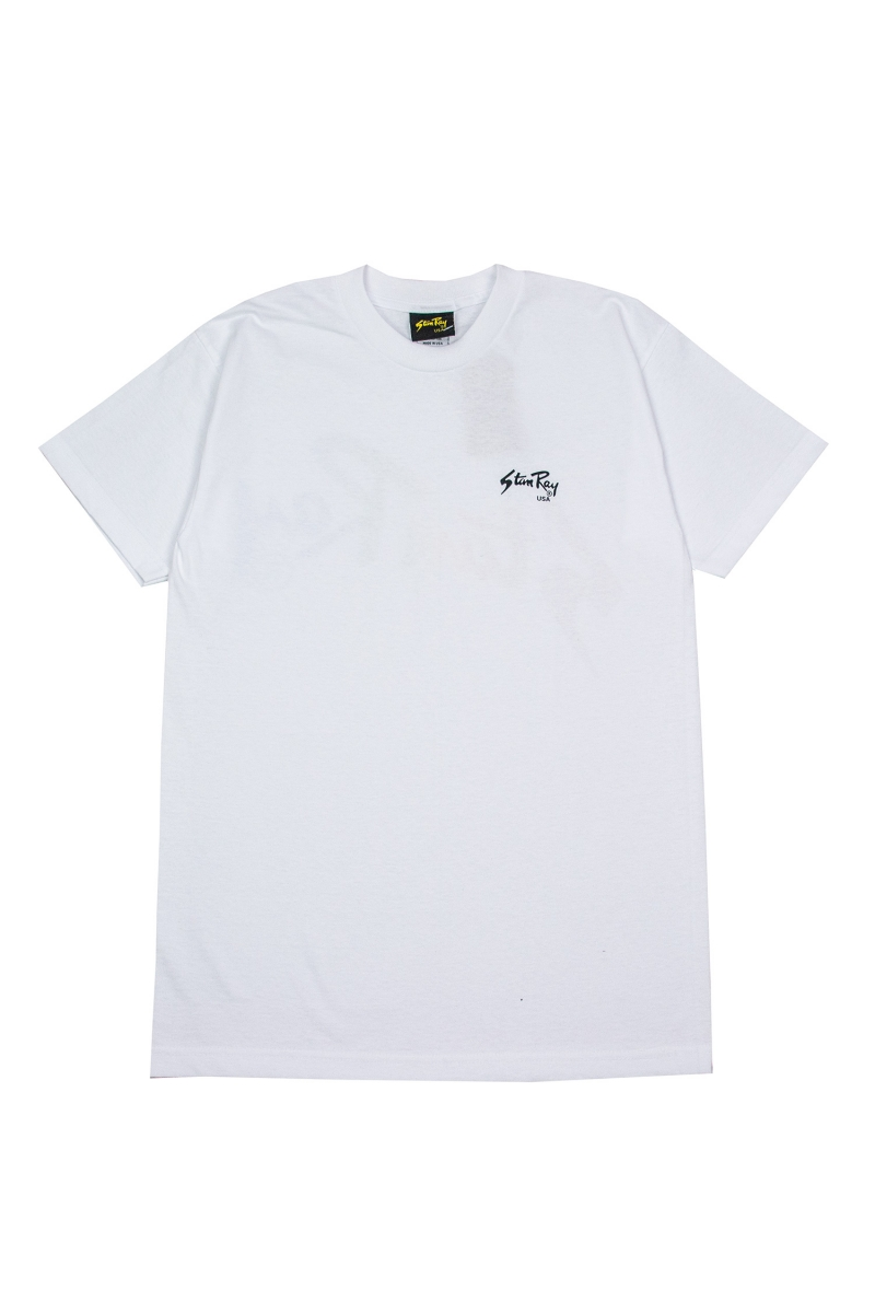 LAZER FADE TEE | LEFT WHITE