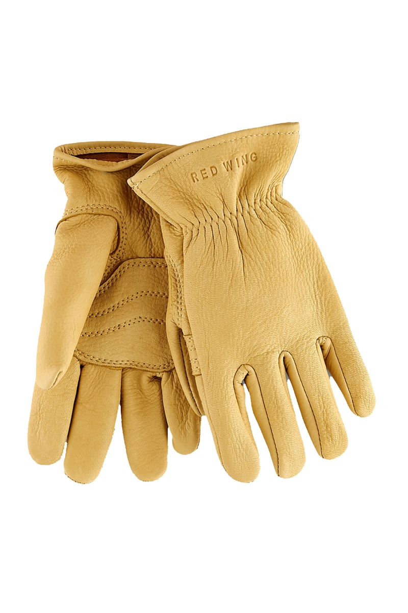 BIKER GLOVE DEER SKIN | YELLOW