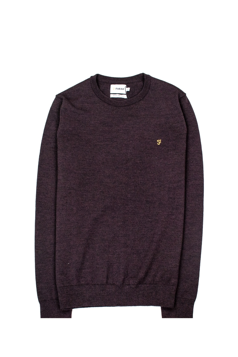 MULLEN WOOL CREW | BORDEAUX