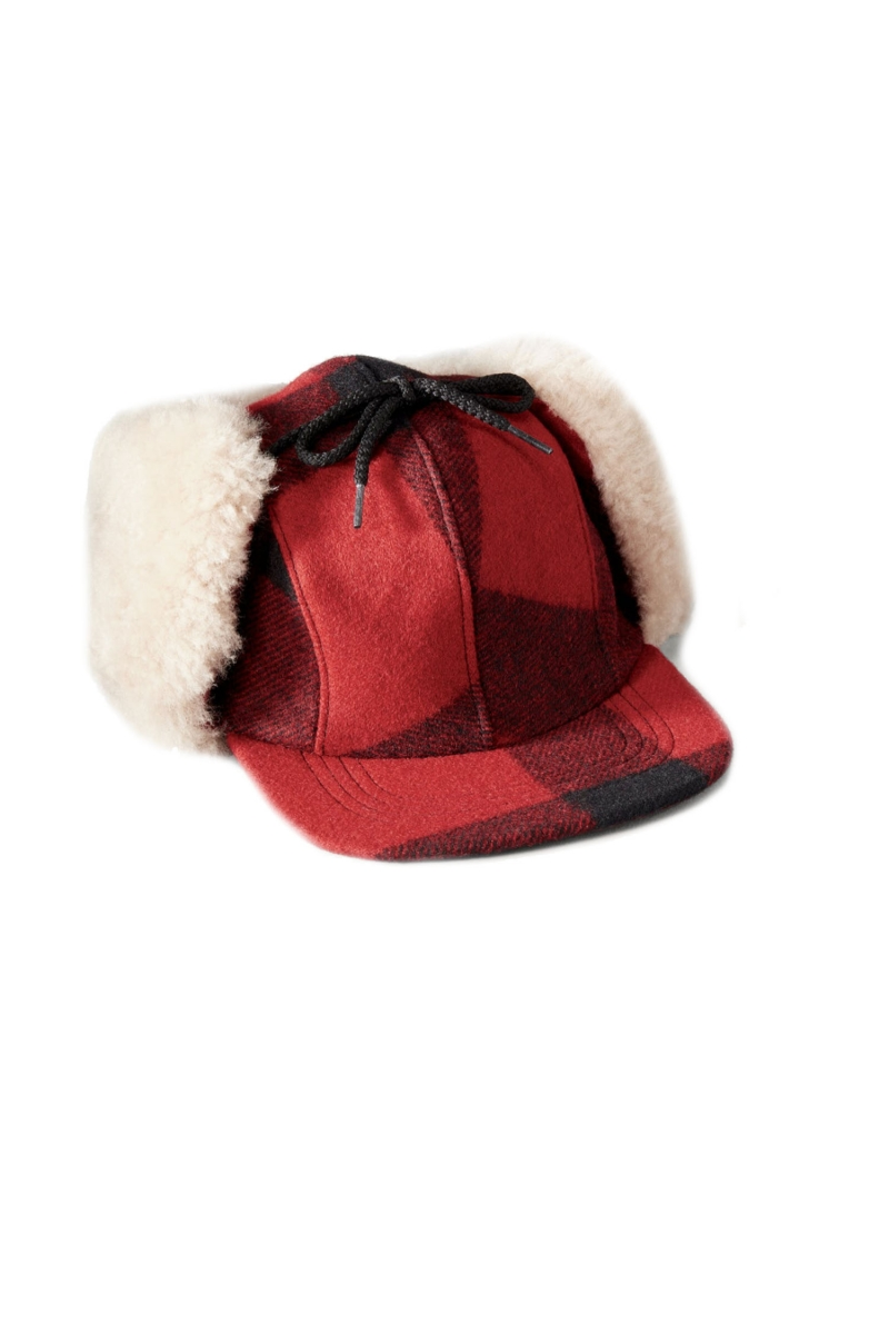 DOUBLE MACKINAW CAP | RED BLACK