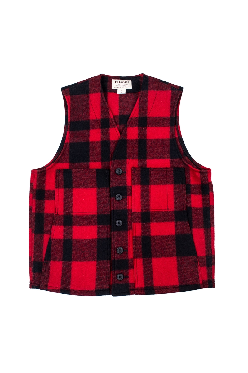 MACKINAW VEST | RED BLACK