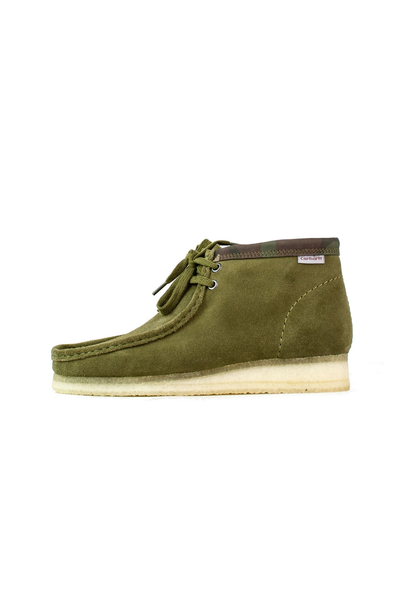 WALLABEE BOOT X CARHARTT | OLIVE CAMOUFLAGE