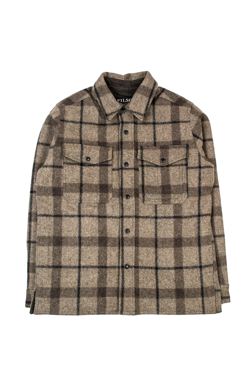 MACKINAW JAC SHIRT | TAUPE BROWN
