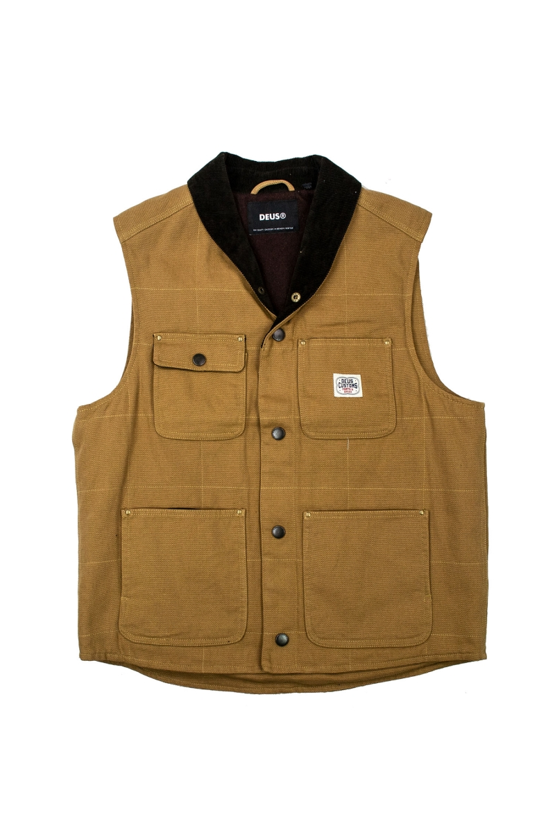 EARL CANVAS VEST | DARK TAN