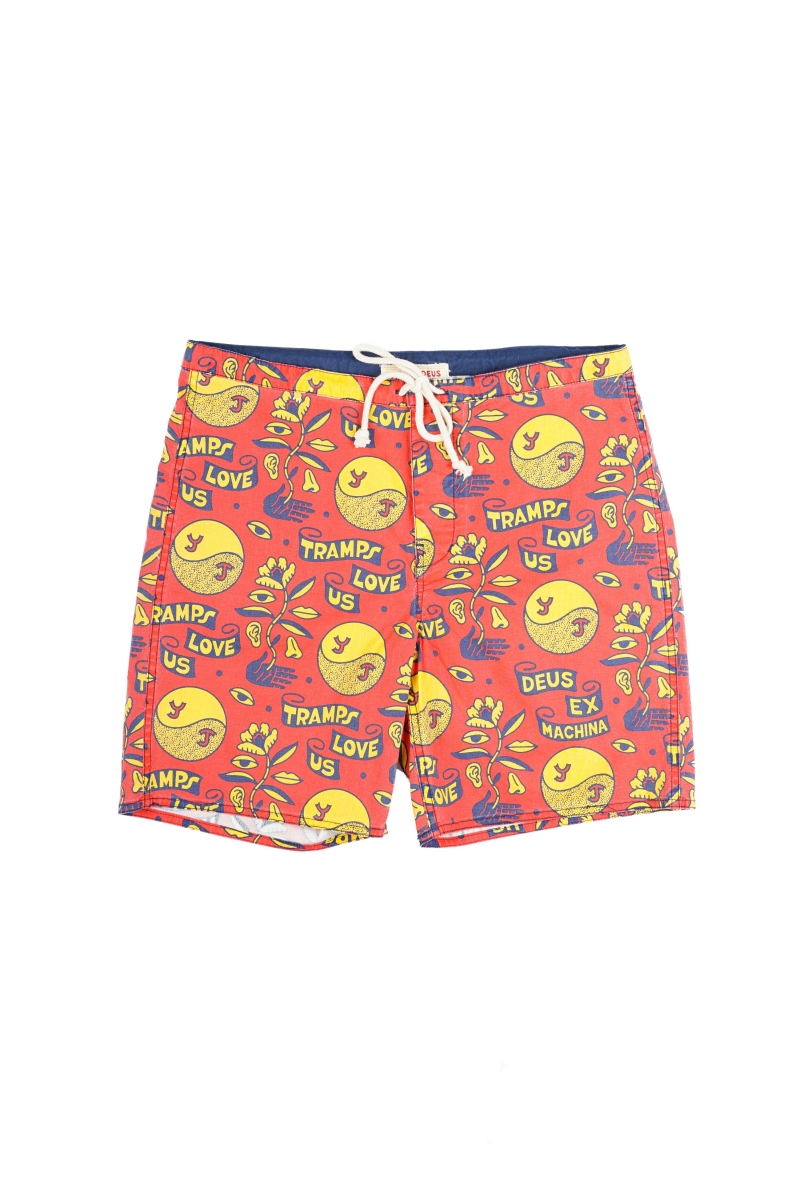 LOVE TRAMP BOARDSHORT | RED MOLTEN