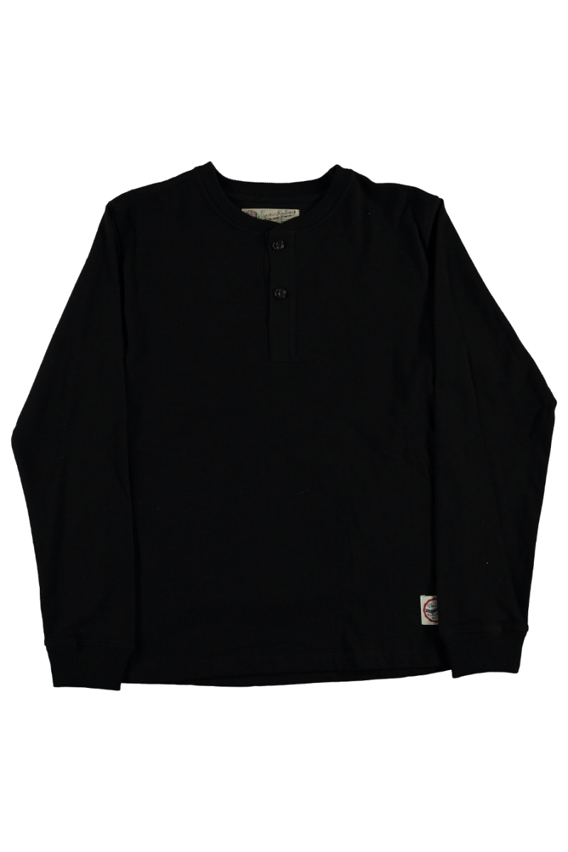 HENLEY HEAVY SLUB | BLACK