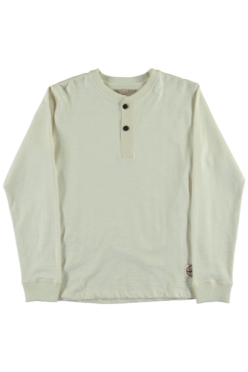 HENLEY HEAVY SLUB | OFF WHITE