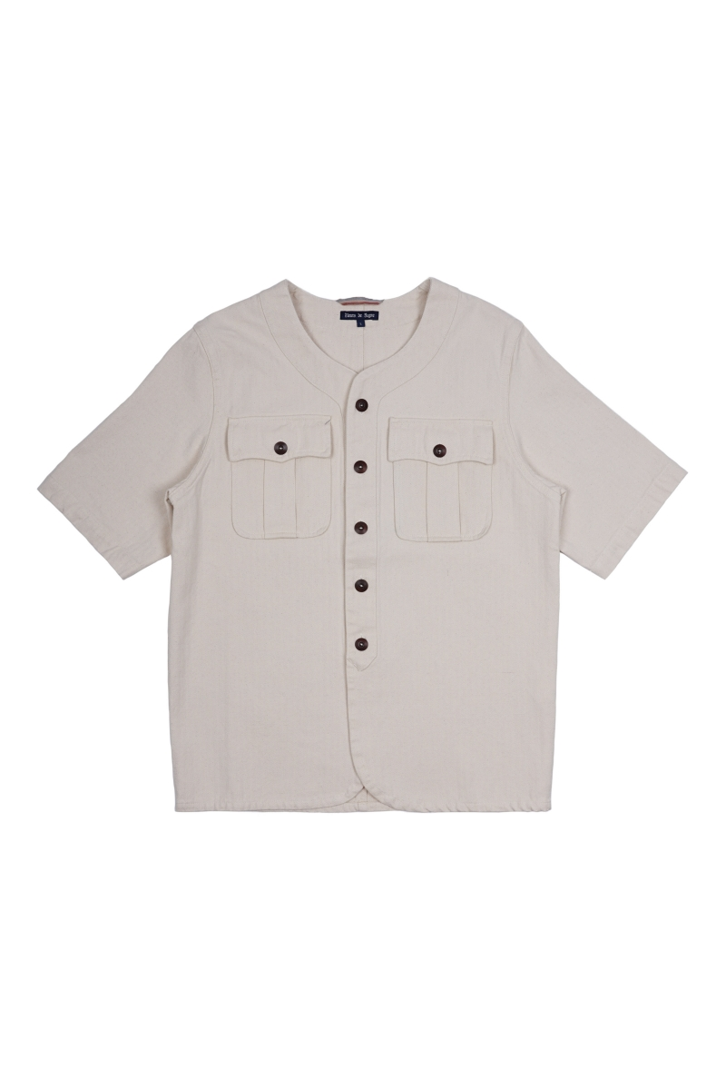 BASEBALL ARMY SHIRT | NATURAL