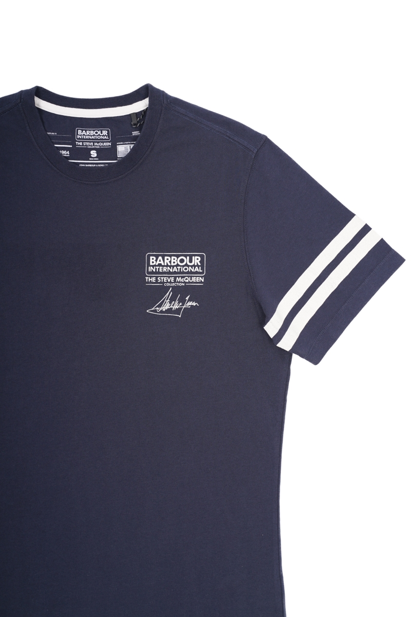 DOUBLE STRIPE TEE | NAVY