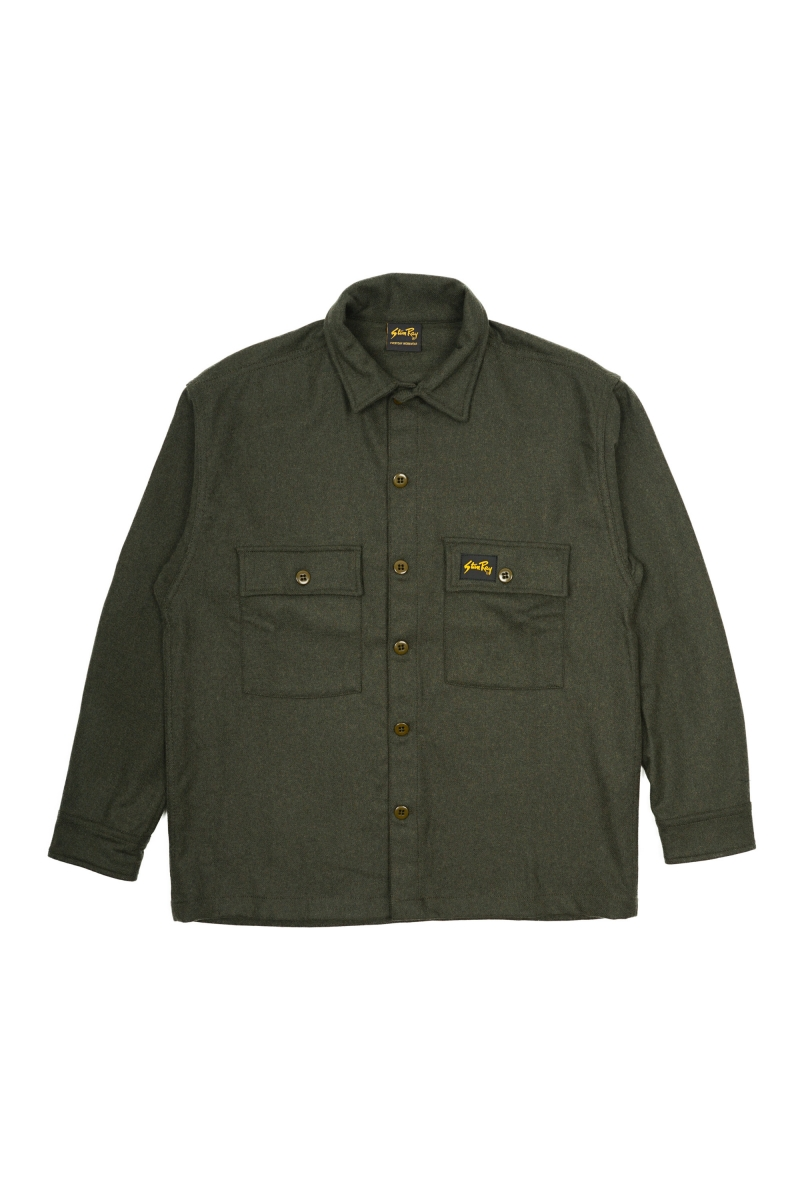 WOOL CPO | OLIVE