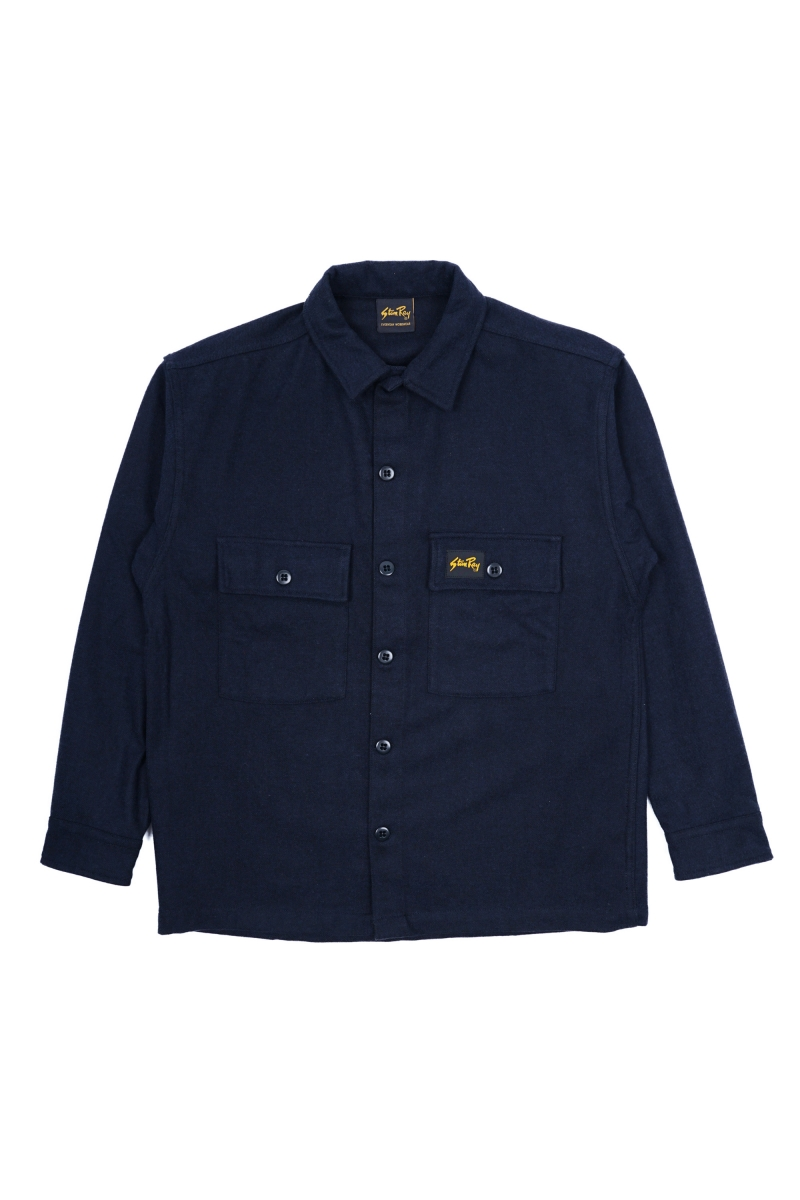 WOOL CPO | NAVY